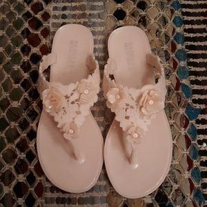 Badgley Mischka Pink Bali Jelly Sandals